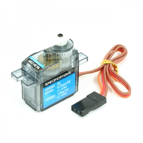 Etronix 9G 1.6Kg 0.12S Micro Servo with Half Metal Gears - ET0005HM