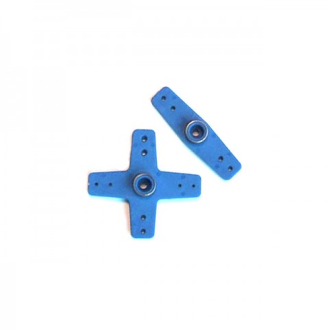 Fastrax Futaba Straight and Cross Type Servo Horns (Blue) - FAST13B