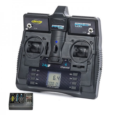 Carson Reflex Pro 3.1 4-Channel 2.4Ghz LCD Stick Transmitter with Receiver - C500085