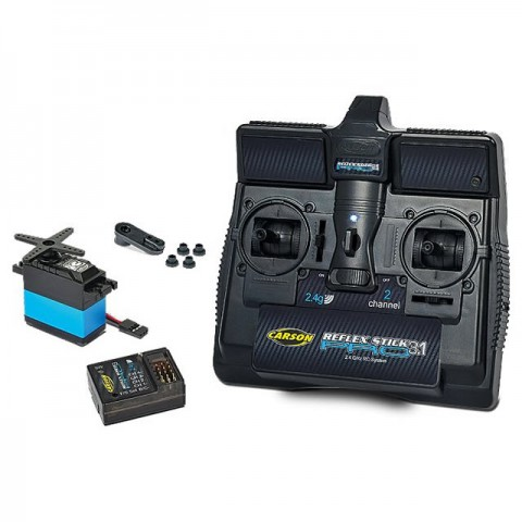 Carson Reflex Pro 3.1 2-Channel 2.4Ghz Stick Transmitter with Receiver and Servo - C707131