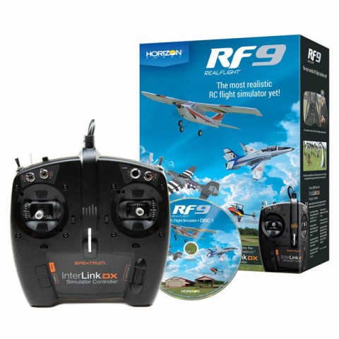 RealFlight RF9 Flight Simulator with Spektrum Interlink DX Controller - RFL1100