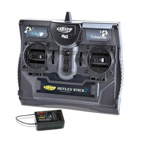 Carson Reflex Stick II 2.4Ghz 6 Channel Transmitter Radio System with Receiver - C501006