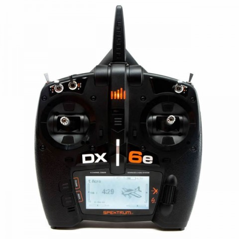 Spektrum DX6e 6-Channel DSMX Transmitter Only (Modes 1-4) - SPMR6655EU