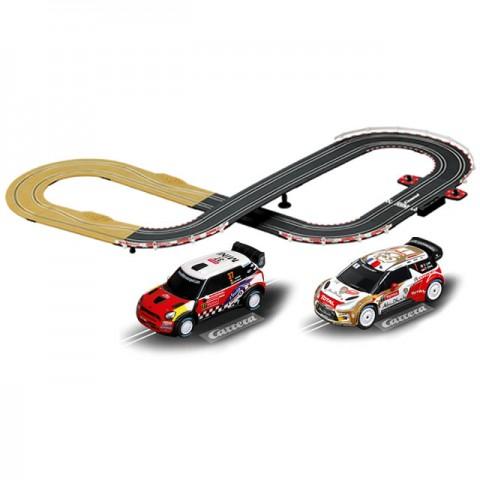 Carrera Go Lets Rally Mini/Citroen WRC 3.6m Slot Car Racing Set - CA62433