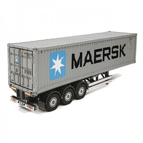 Tamiya 1/14 Semi-Trailer 40-Foot Container for Tamiya RC Tractor Trucks (Unassembled Kit) - 56326