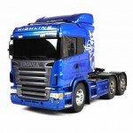 Tamiya 1/14 Scania R620 6x4 Highline Limited Blue Edition Truck (Unassembled Kit) - 56327