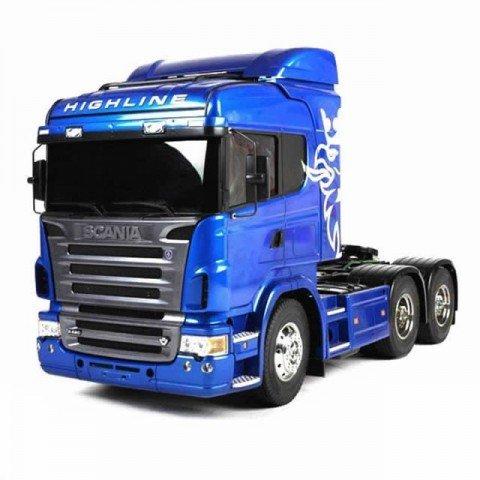 Tamiya 1/14 Scania R620 6x4 Highline Limited Blue Edition Truck (Unassembled Kit) - 56327