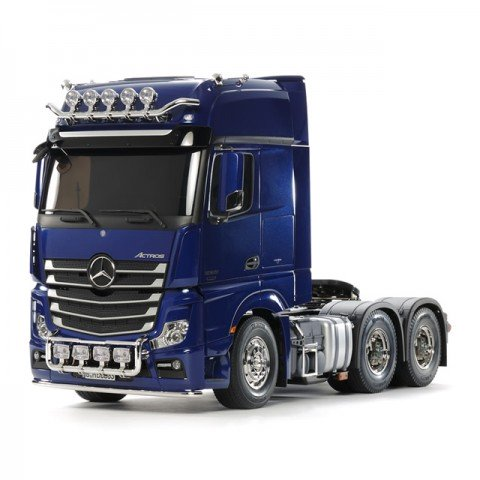 Tamiya Mercedes-Benz Actros 3363 6x4 GigaSpace Pearl Blue Edition Truck (Unassembled Kit) - 56354