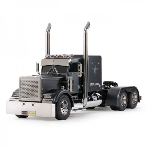 Tamiya 1/14 Grand Hauler Matt Black Edition Truck (Unassembled Kit) - 56356